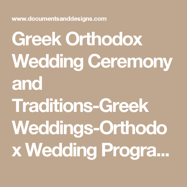 Greek Orthodox Wedding Ceremony and Traditions-Greek Weddings ...