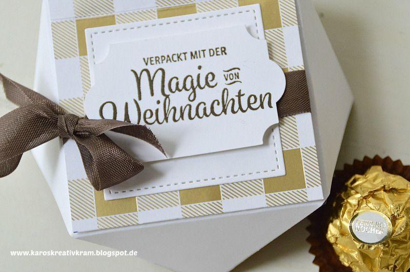 Ferrero Rocher Verpackung Diamantbox Winterwunder Karos