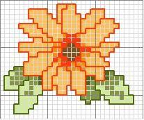 Schema punto croce Fiore