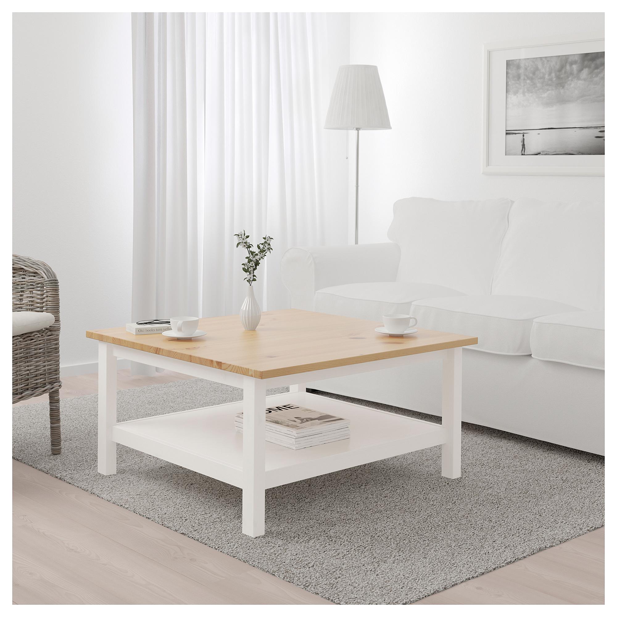Ikea Hemnes Coffee Table White Stain Light Brown