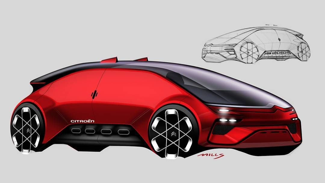 329 Me Gusta 5 Comentarios Michael Mills Automotivedesign En Instagram 262 I 365 Another Render From A Previously Posted Sketch This Time A Citroen Ed