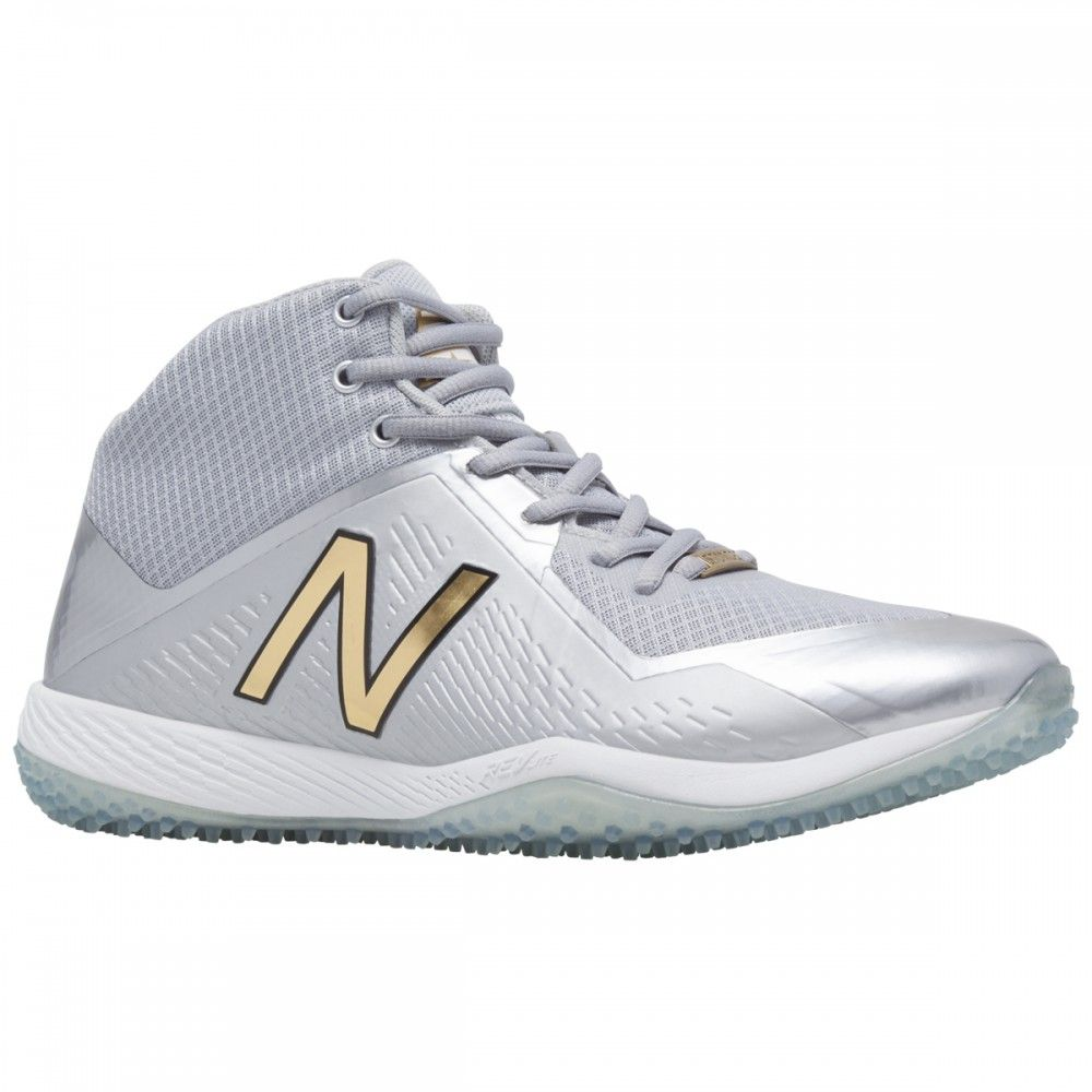 bcdb3d3bc20b8 New Balance x Stance 4040v4 Men's Turf Shoes w/Socks - Grey/Black ...