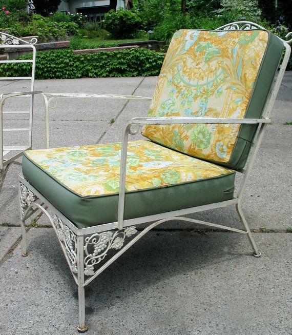 Vintage Woodard Iron Patio Set Sofa Pair Chairs By