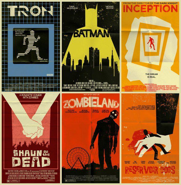 STREETS OF BEIGE Vintage Posters Of Modern Films By Mark Wesler
