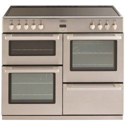 Belling Db4 100e Professional 100cm Wide Electric Range Cooker With Ceramic Hob Stainless Steel Range Cooker Electric Range Cookers Gas Range Cookers
