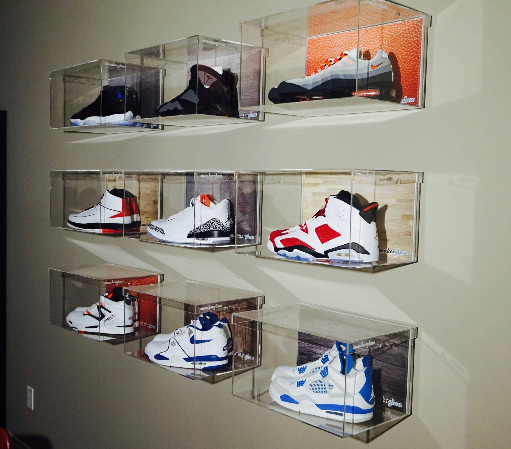 Floating Wall Box Large Shoe Boxes On Wall Sneaker Displays Sneakerhead Room