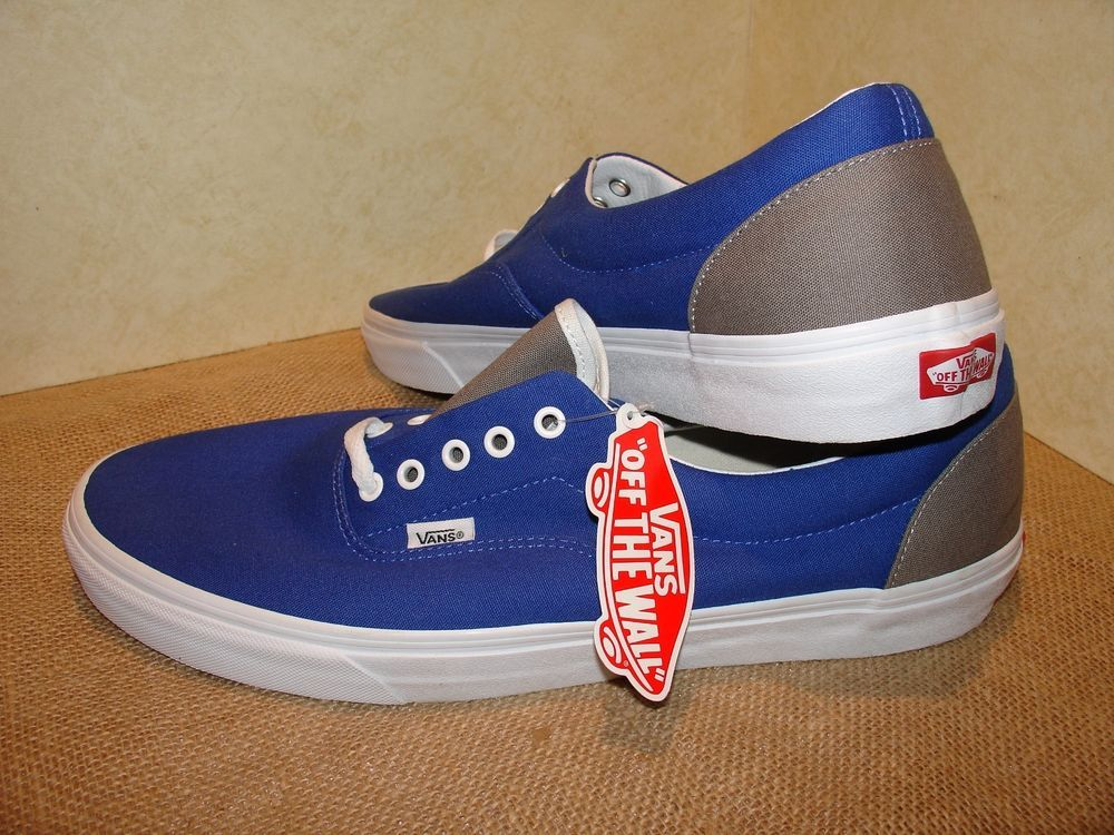 40b6db3e16f5c8 VANS Off The Wall Custom MENS Size 17 Sneaker NEW W  TAGS Royal Blue   Gray   VansFineArt  AthleticSneakers --- Scored dese sickest Vans on eBay! Just  paid.