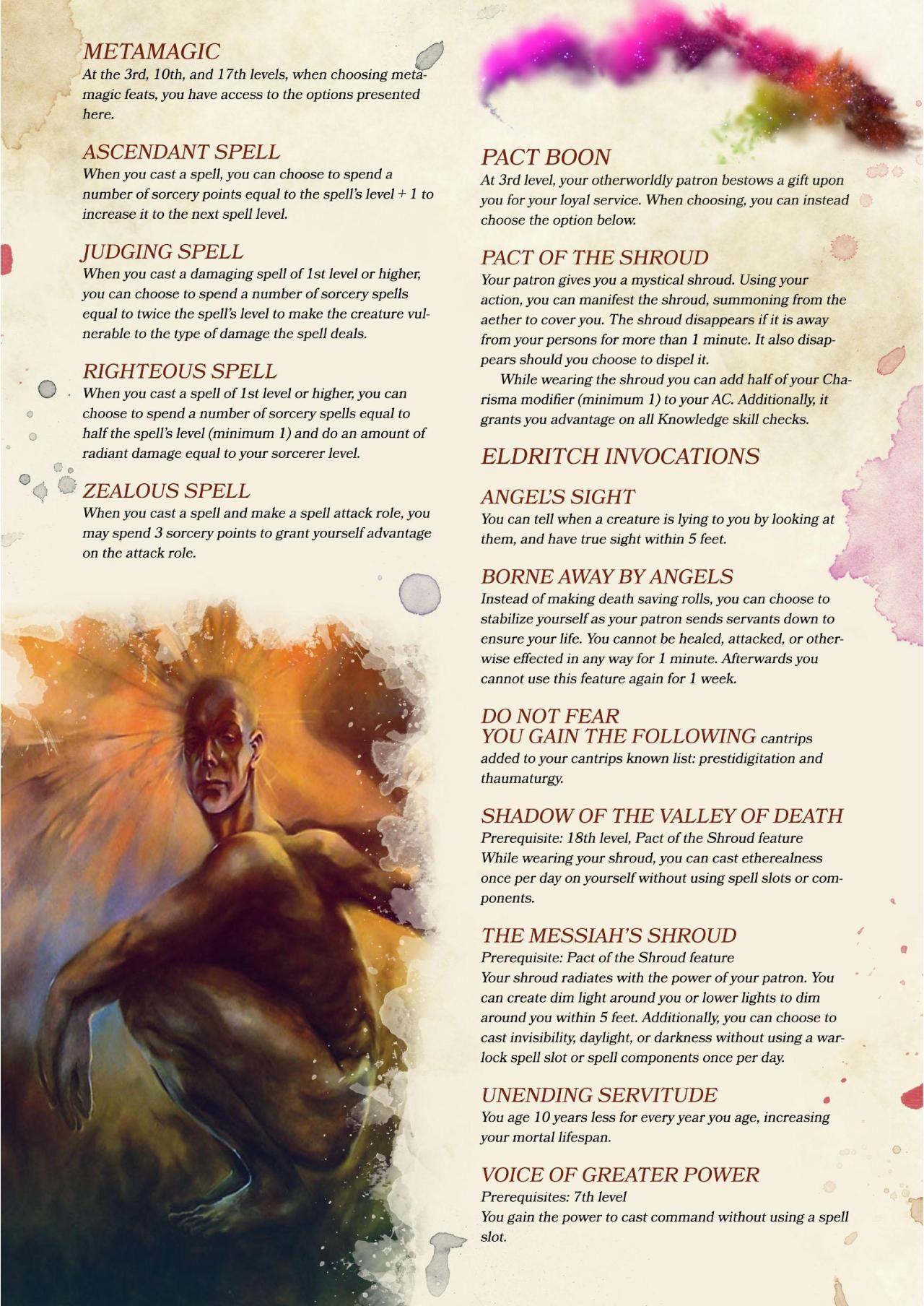 "Compendium of Angels"" excerpt part 2: Warlock Cherub"