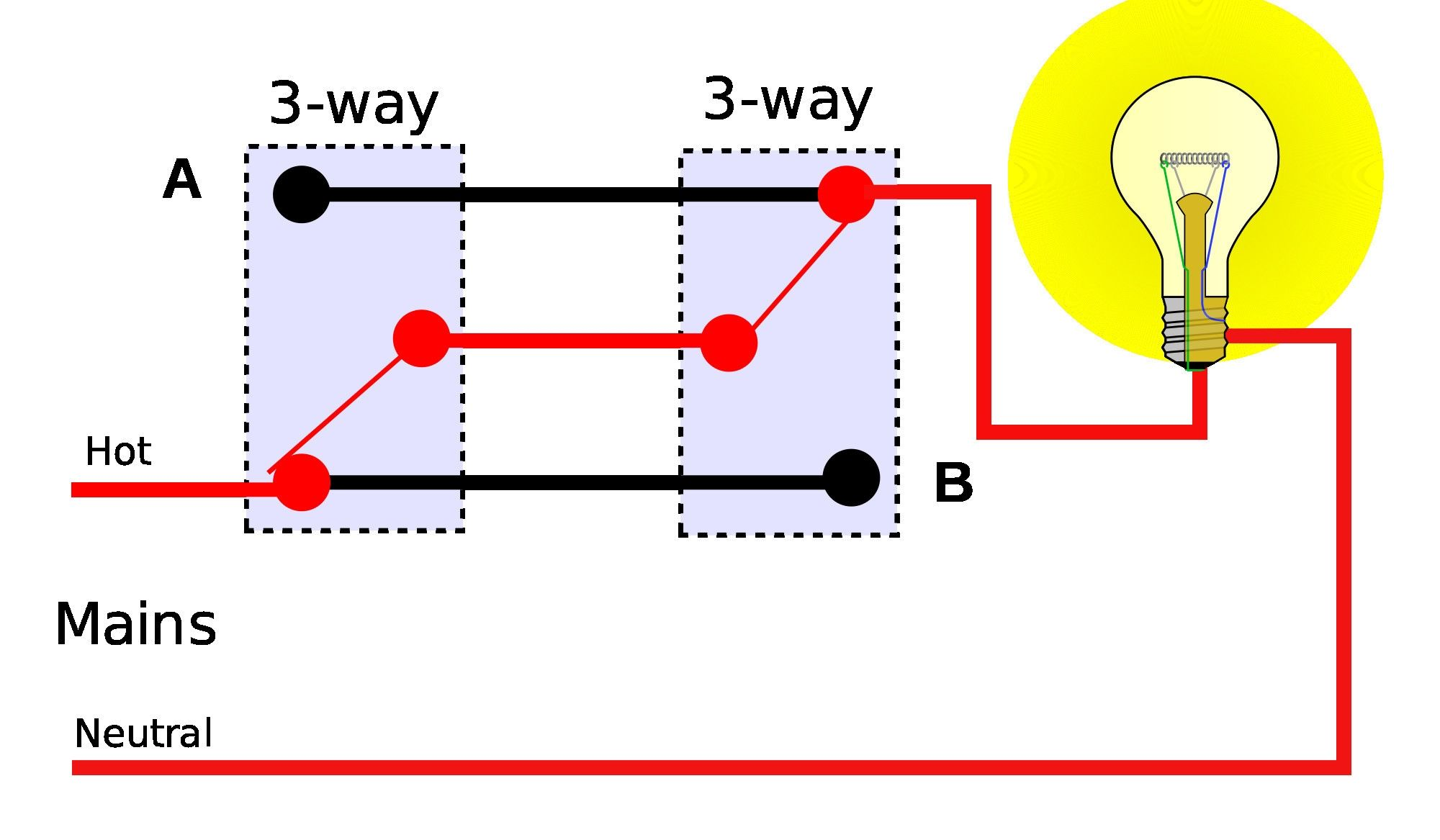 wiring diagram for 4 lights with one switch awesome 4 way light intended for wiring 4 lights to one switch [ 2000 x 1167 Pixel ]