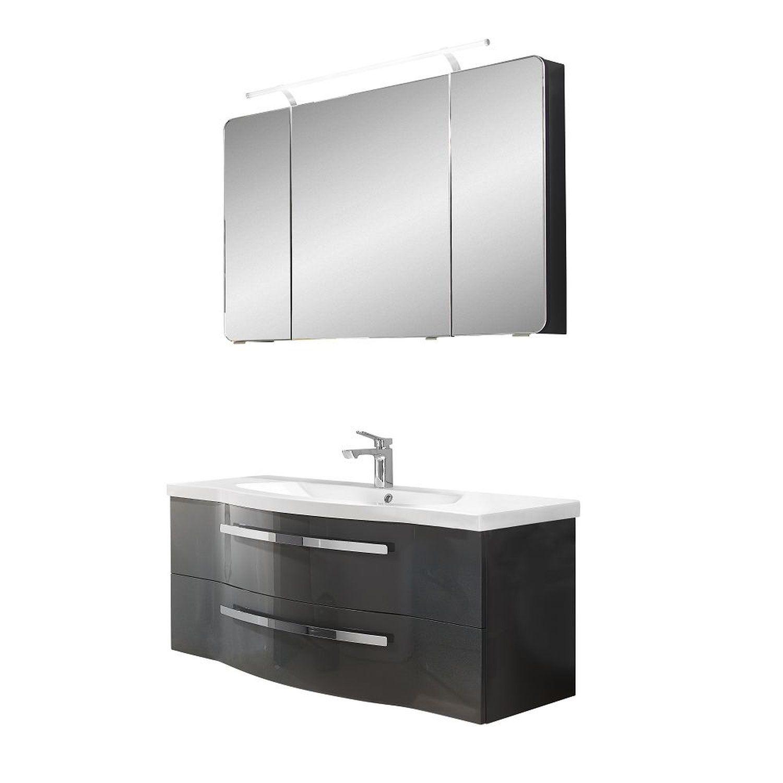 set badezimmer badezimmer spiegelschrank mit beleuchtung