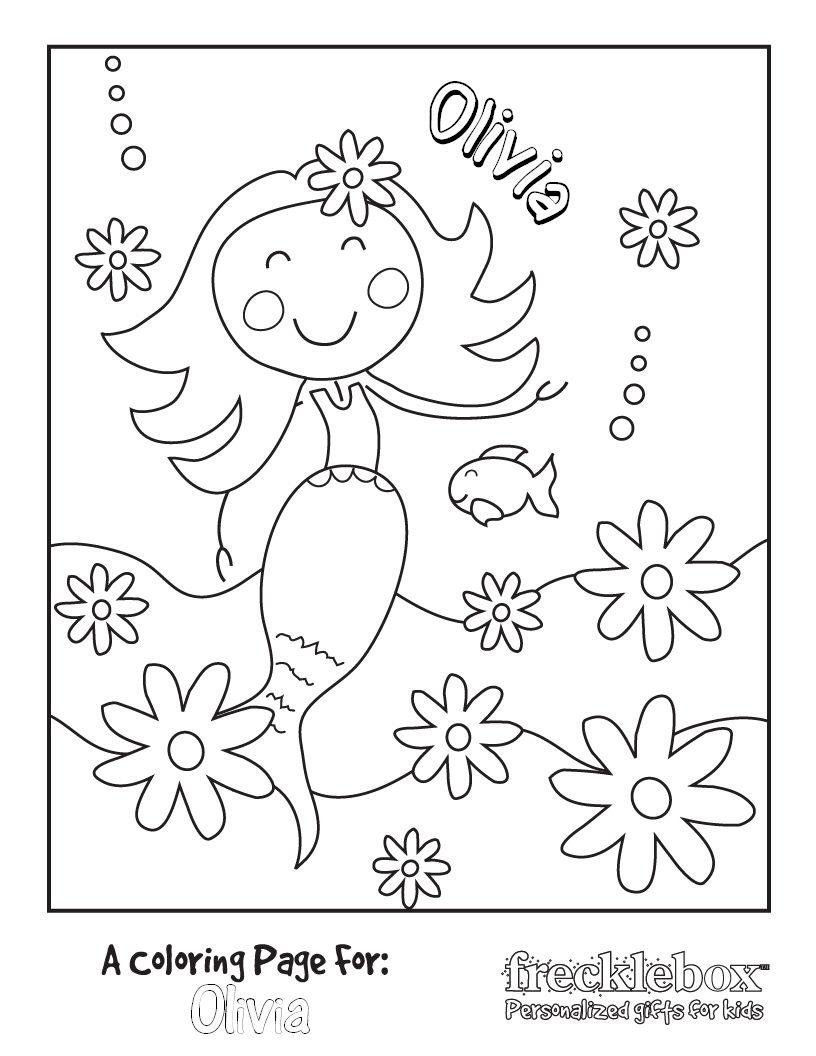 Coloring Page Mermaid Coloring Pages Coloring Pages Mermaid Coloring