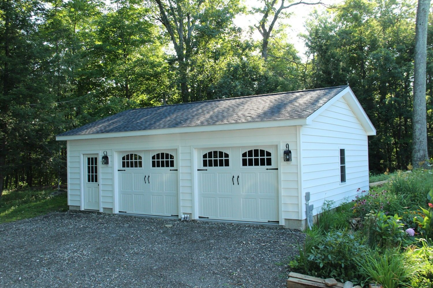 24 X 30 Bridgewater Ct 4 12 Roof Pitch Backyard Garage Building A Garage Garages