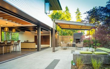 Houzz Home Design Decorating And Remodeling Ideas And Inspiration Kitchen And Bathroom Design Modern Patio Design Covered Patio Design Patio Design