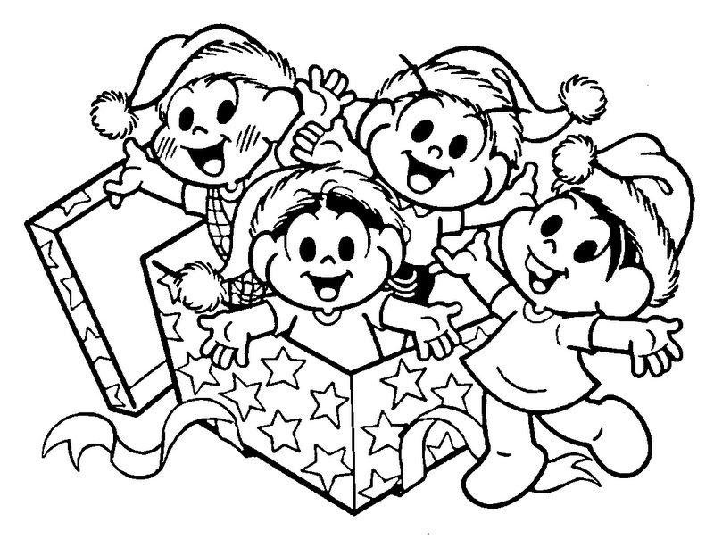 Natal Lindo Com Os Desenhos Da Turma Da Monica Com Imagens
