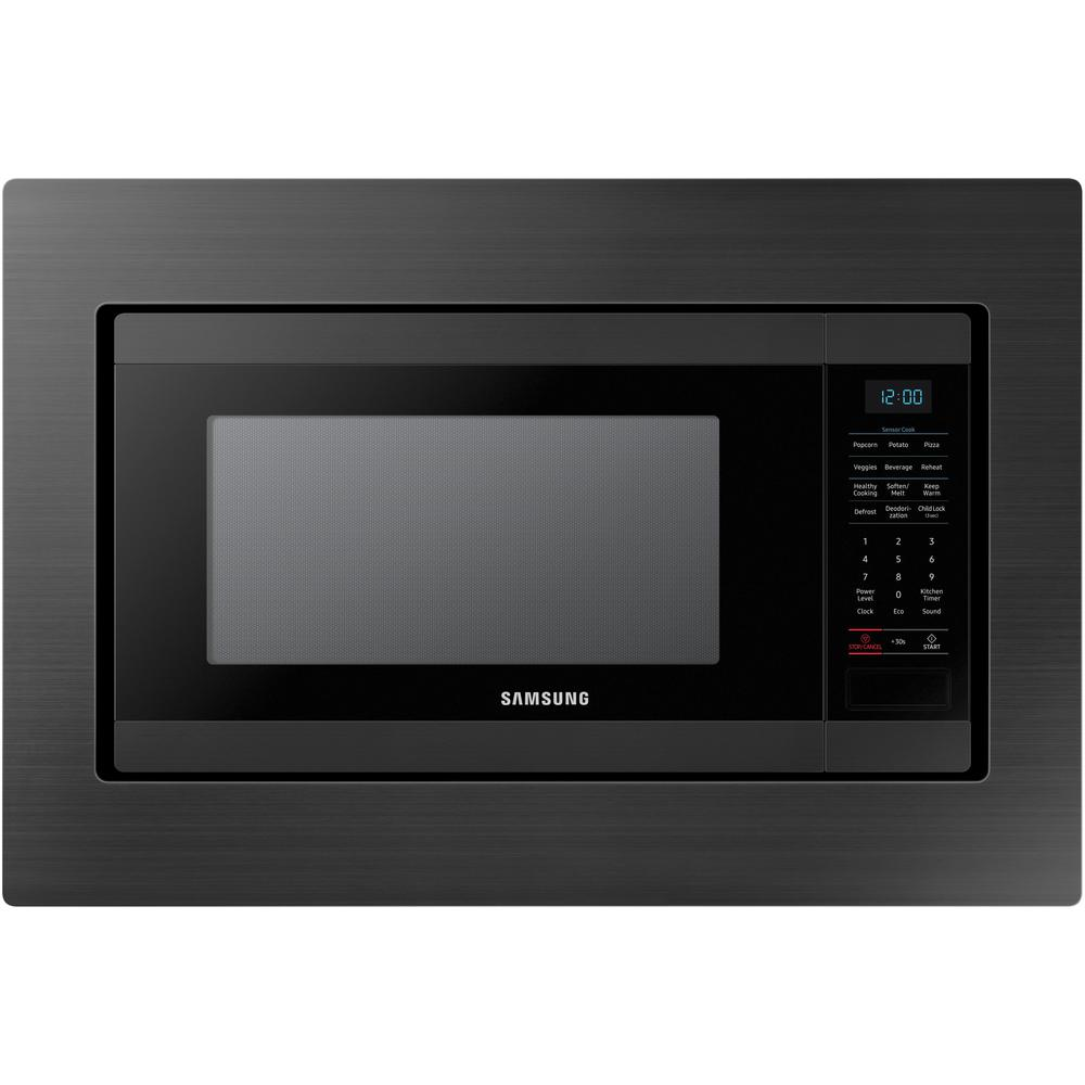 Samsung 29 8 In Trim Kit For Samsung Ms19m8000ag Countertop Microwave Black Stainless Steel 1 Pack Ma Tk8020tg Black Stainless Steel Black Microwave Countertops