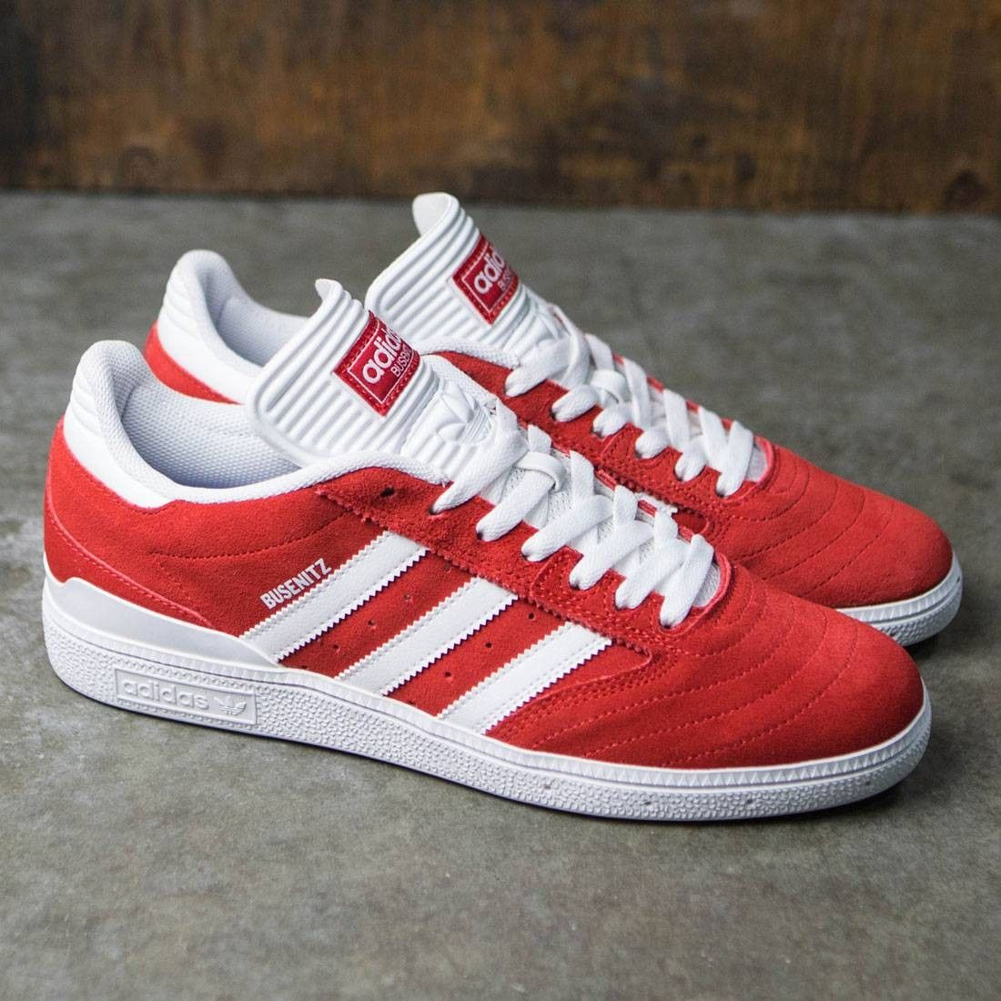 brand new 224cf 284db Adidas Men Busenitz (red  scarlet  footwear white)