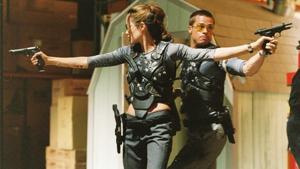 Angelina Jolie Is The First Blockbuster Female Action Movie Star Film D Action Brad Pitt Monsieur Et Madame Smith