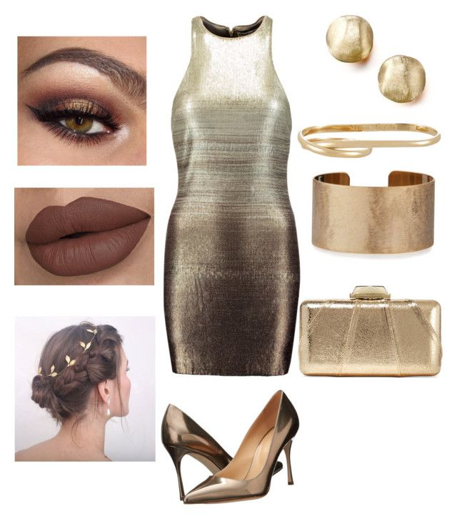 """""""Untitled #3"""" by alice-mancebo on Polyvore featuring Halston Heritage, Sergio Rossi, Panacea, Marco Bicego, Maison Margiela and KOTUR"""