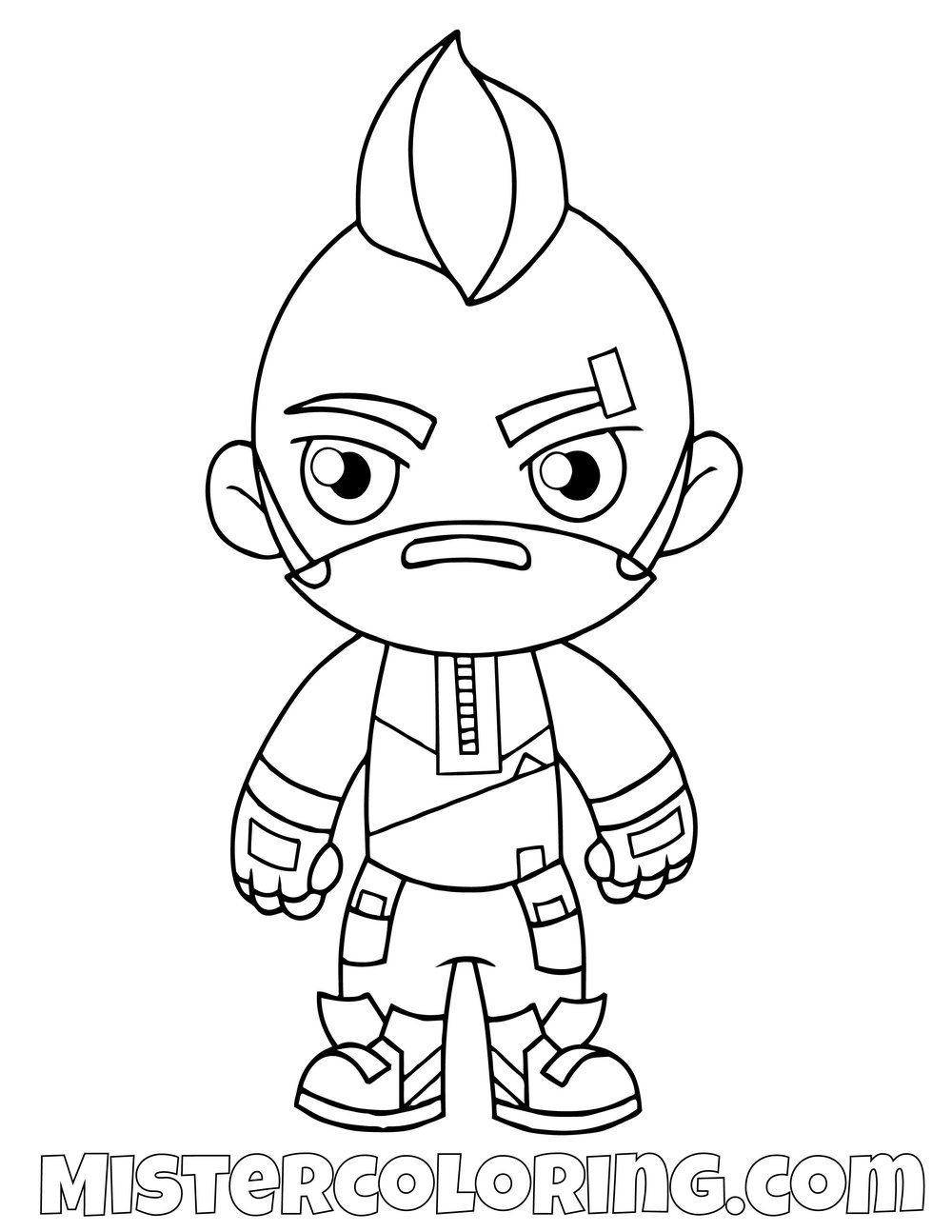 Free Drift Chibi Fortnite Skin Coloring Page For Kids Coloring
