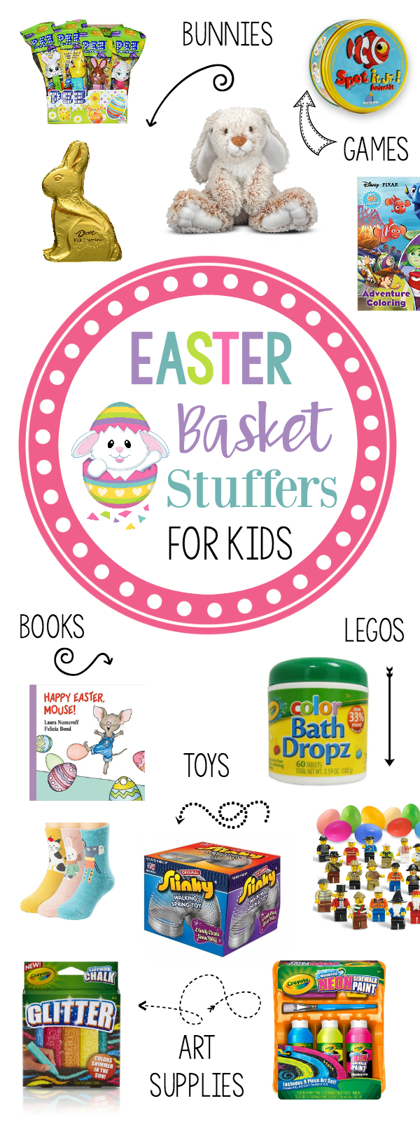 Easter basket stuffers ideas for kids under 10 easter baskets cute and fun easter basket stuffers for kids under 10 years old negle Images