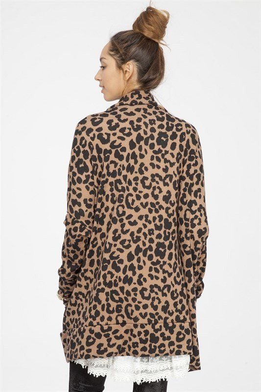 You are going love this leopard print oversized open cardigan way ...