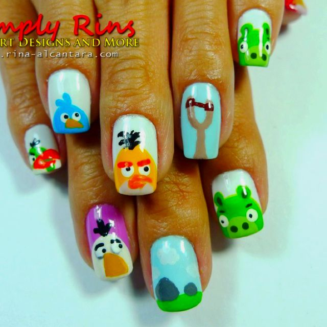 Angry birds nails | Beauty: Nails | Pinterest | Angry birds and ...