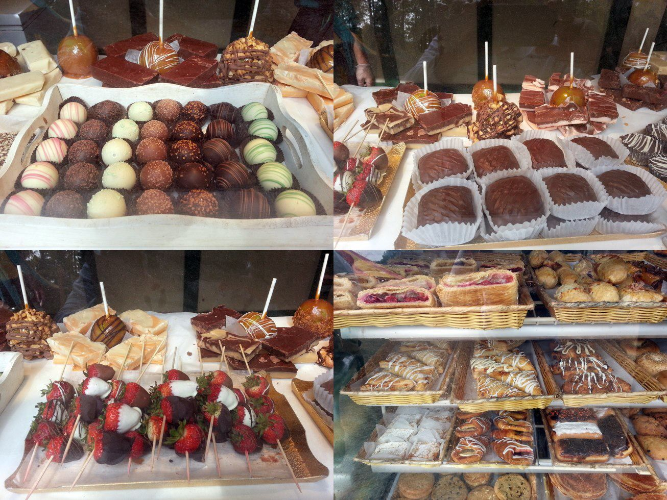 Chocolate and bakery items at the az ren fest