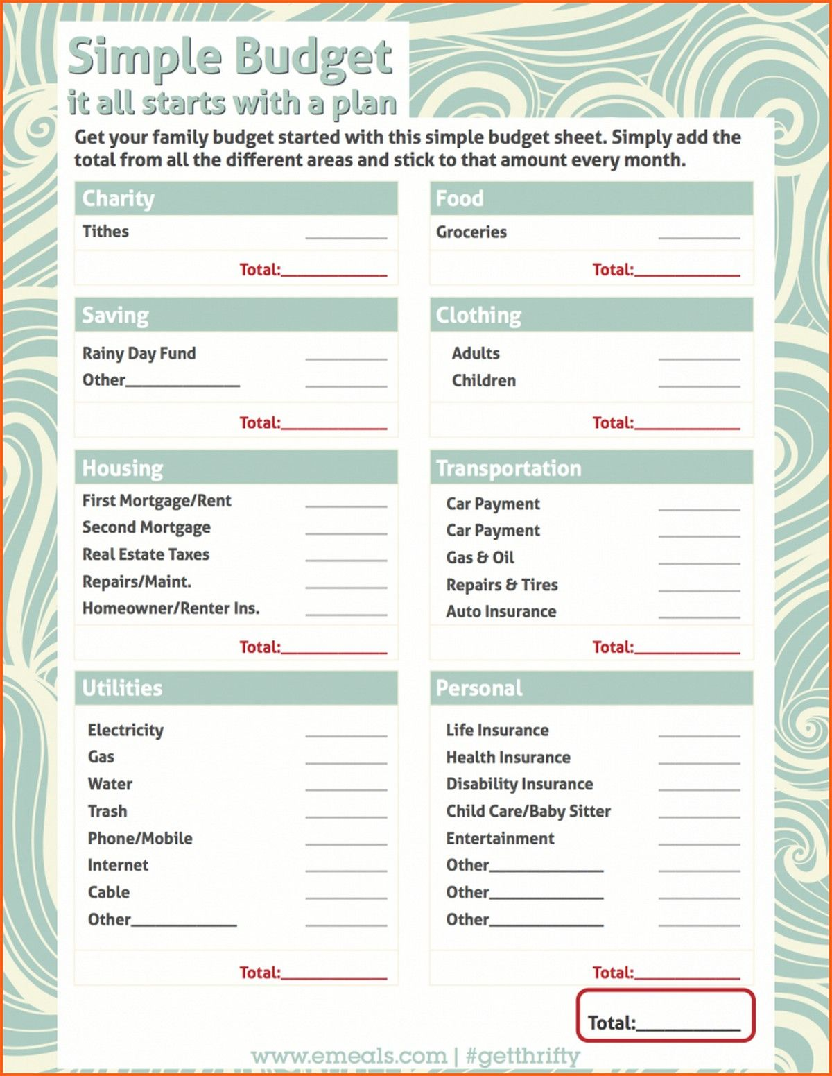Dave Ramsey Budget Spreadsheet In 2021 Simple Budget Worksheet Simple Budget Budgeting Worksheets Free