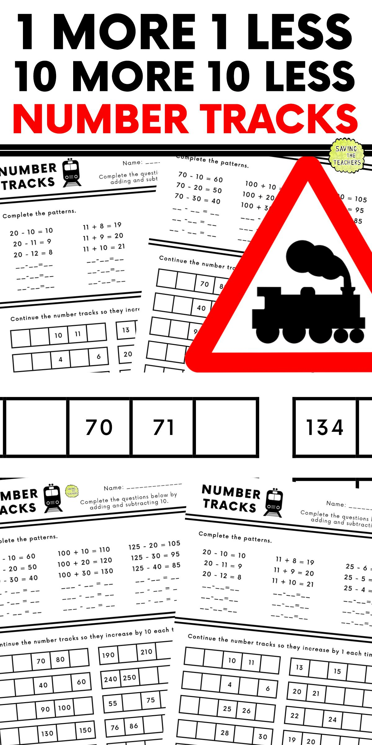 1 10 More Than Or Less Than Worksheet Activity