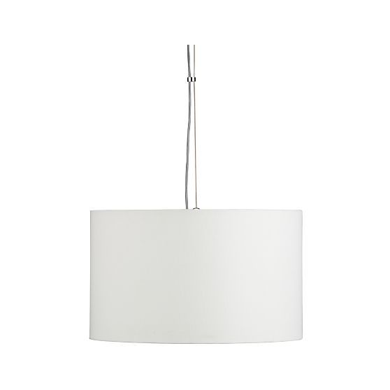 Finley Small White Pendant Light | Crate and Barrel