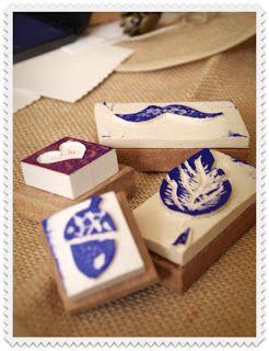 Carvado de sellos en gomas de borrar