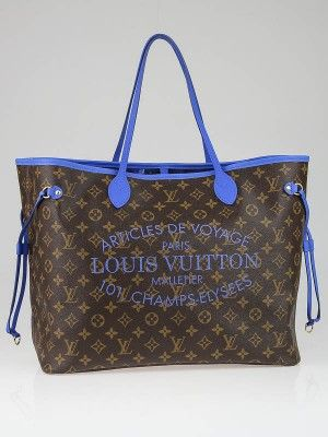 Authentic Louis Vuitton Limited Edition Grand Bleu Monogram Ikat Neverfull  GM Bag at Yoogi s Closet. Condition is New 8d1a0376b3b86