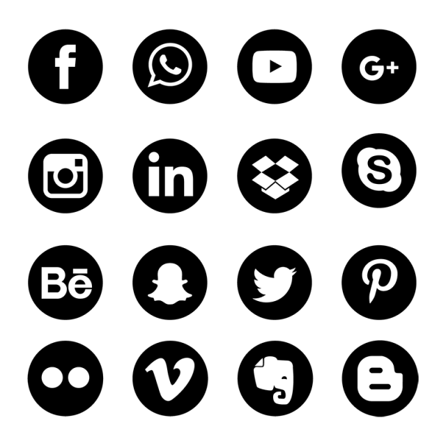 Social Media Icons Set Network Background. Share Comment ...