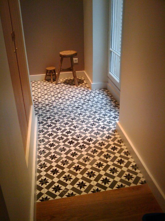 Carreaux de ciment modele ch 13 en 20x20 charme for Melange carrelage parquet