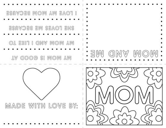 mother day card coloring page