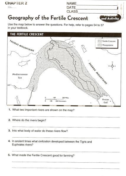 The Fertile Crescent Map Skills School Pinterest Map skills