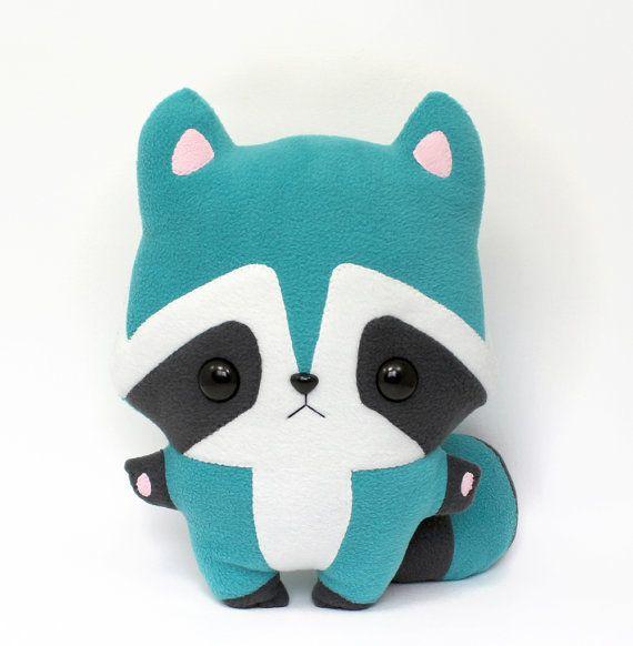 Plush Sewing Pattern Pdf Basil Raccoon Cute Soft By Teacuplion