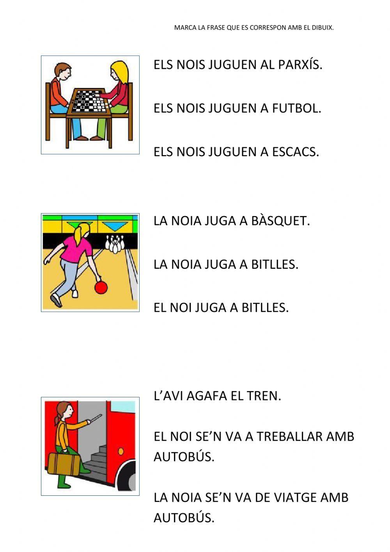 Cl Frases Interactive Worksheet Lectures Comprensives Worksheets Workbook [ 1413 x 1000 Pixel ]