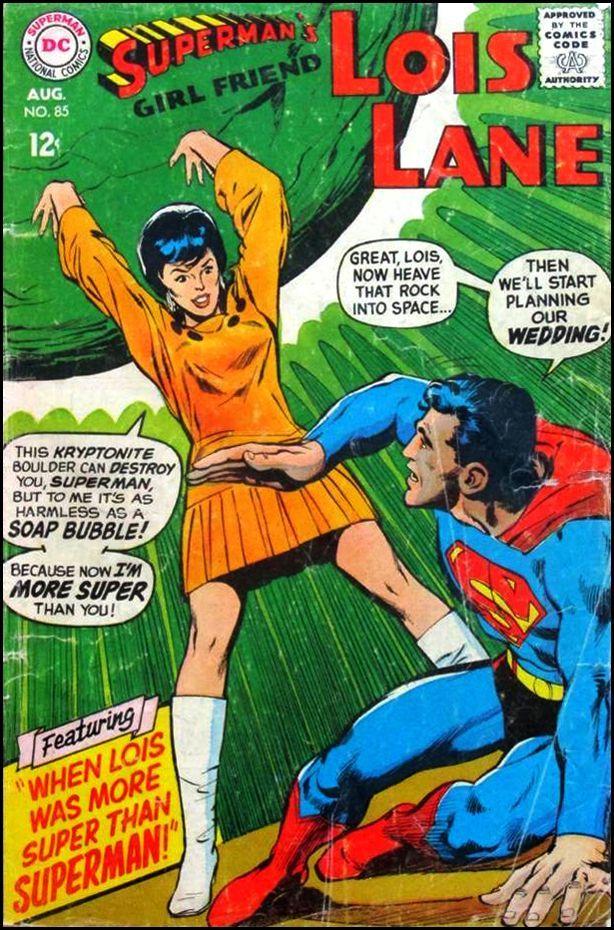 Neal Adams - Lois Lane comic book covers | ... MORE SUPER than you! - Superman's Girl Friend Lois Lane No. 85, 1968