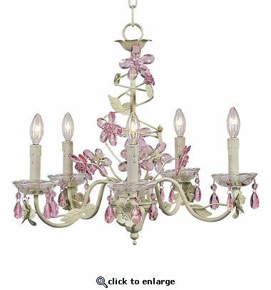 5 arm crystal flower soft green pink chandelier pink kissed with 5 arm crystal flower soft green pink chandelier mozeypictures