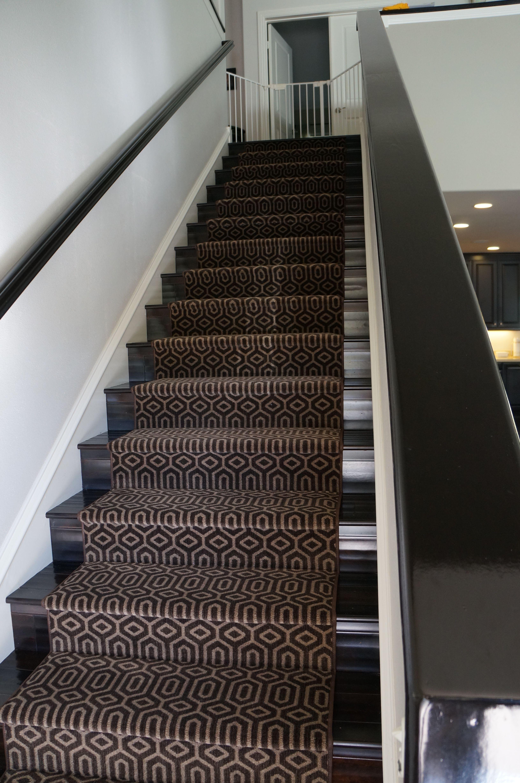Geometric Stair Runner In Newport Beach Hallway Carpet Runners | Modern Carpet Runners For Stairs | Geometric | Design | White | Curved | Kitchen Modern