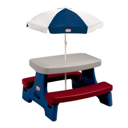 Little Tikes Easy Store Jr. Table with Umbrella | Play table ...