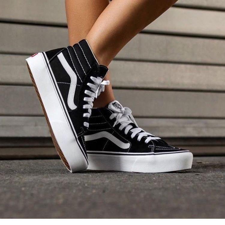 Vans Shoes | Vans High Top Platform Sneakers | Color: Black