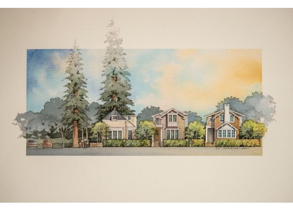 Rendered Elevation By Al Forster Watercolor Architecture