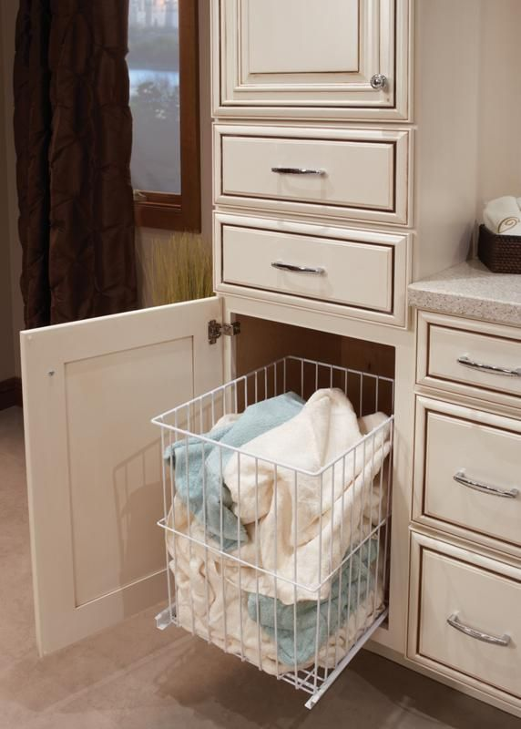 Built In Bathroom Laundry Hamper