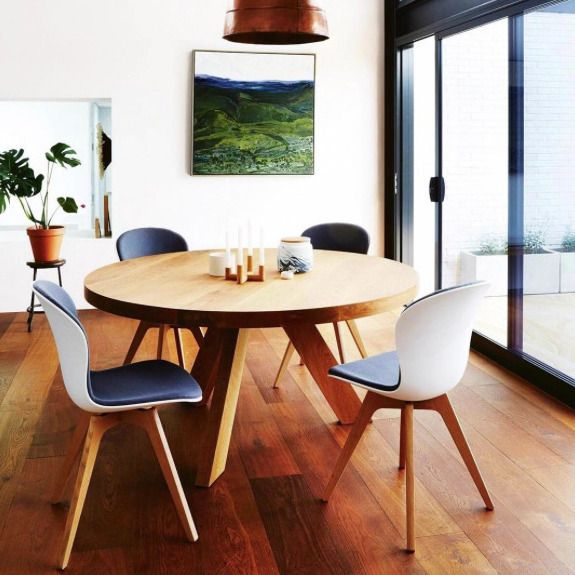 wooden floor natural modern dinning room wooden round table adelaide
