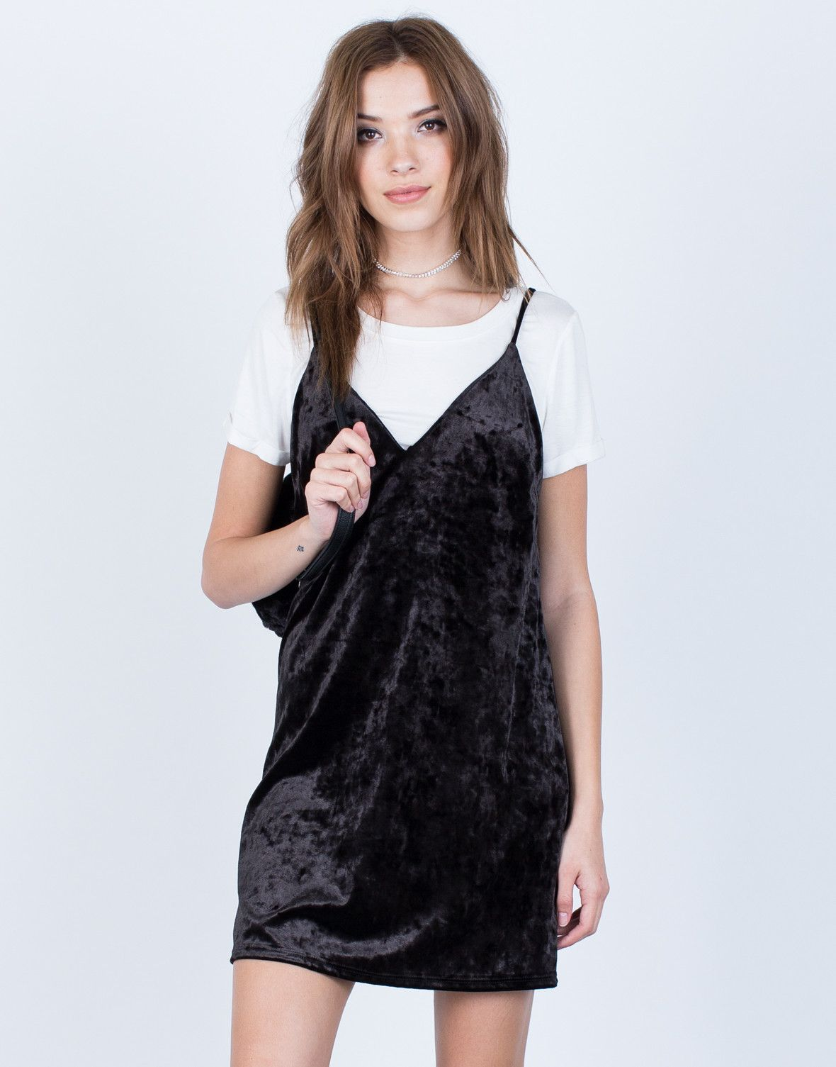 71bcddaed9d1e You can t go wrong by heading out on a Saturday night in a little black  dress. The Crushed in Velvet Slip Dress is the perfect piece that will make  your ...
