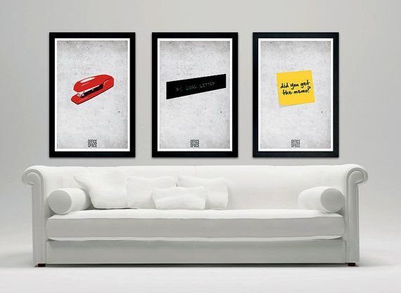 Office Space minimalistic movie poster  12x18 by SPACEBARdesigns, $37.00