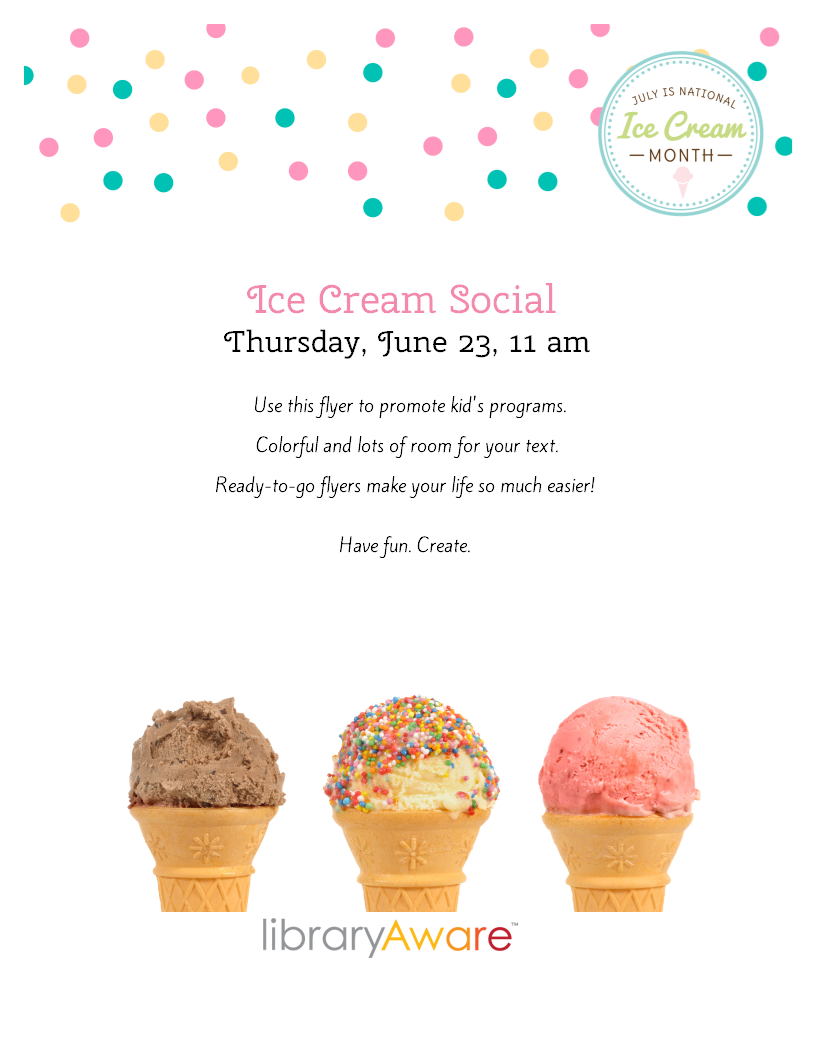 July is National Ice Cream Month- celebrate in your library with ...