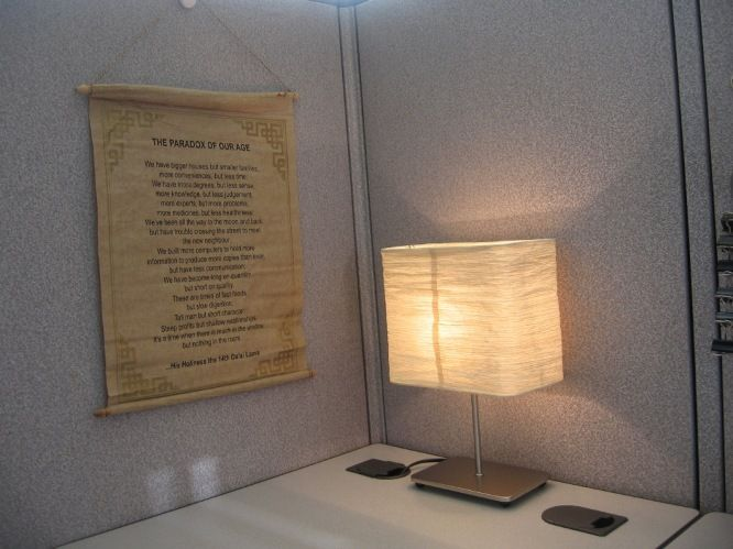 step up your cubicle decor with cool office lighting ideas